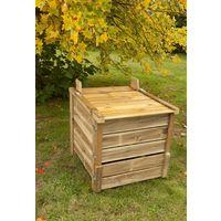 Composteur de jardin 350 litres Pin autoclave - Brut
