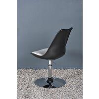 Chaise design Victoria noir et blanc - Noir et blanc