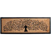 Paillasson arbre en coco et latex Longueur 120cm - Noir