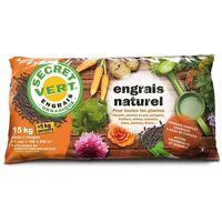 Engrais naturel bio pour toutes les plantes 15 kg + 5 kg offerts