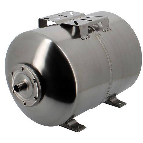 Réservoir pression à vessie horizontal en inox - 50 litres