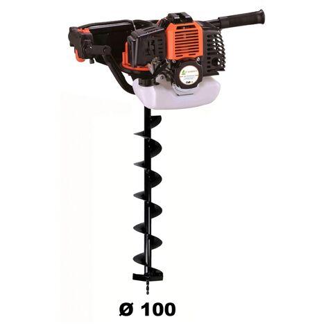 Tarière thermique 52 cm3 - 3 CV + mèche 100 mm