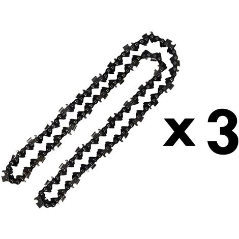 Lot de 3 chaînes 76 maillons pour tronçonneuse