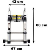 Échelle télescopique pliable en aluminium - 3.80 mètres