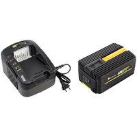 Taille-haies sur perche sans fil à batterie, 40 V, GT ELEC + batterie 2 Ah + chargeur