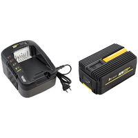 Taille-haies sur perche sans fil à batterie, 40 V, GT ELEC + batterie 4 Ah + chargeur