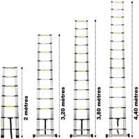 Échelle télescopique en aluminium - 3.20 mètres