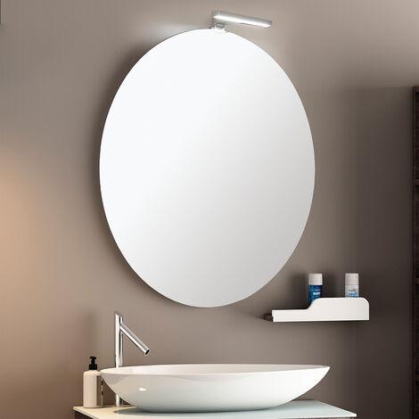 Specchi Tondi Varie Misure.Round Light Specchio Filo Lucido Rotondo In Varie Misure Con Telaio Retrostante In Pvc A Sostegno