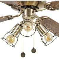 Ventilateur de plafond classique laiton Faro Yakarta Laiton Acier 33711-11