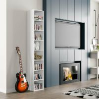 Homfa 8 Tier Wooden Bookcase CD Display Storage Tower Shelf Unit Wood Furniture