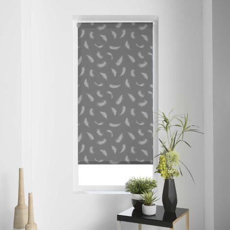 Store enrouleur imp. japonais 45 x 180 cm polyester envolea Gris