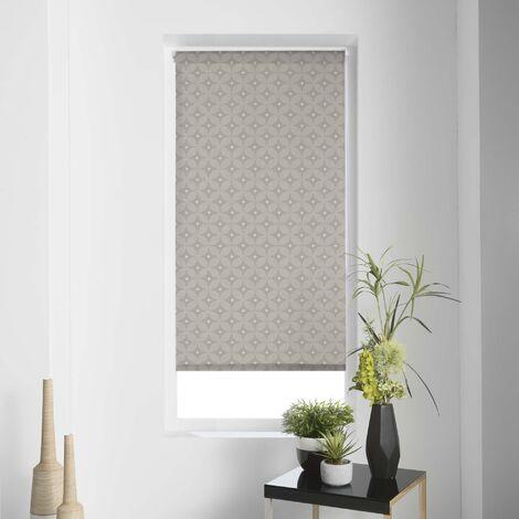 Store enrouleur imp. japonais 45 x 180 cm polyester modern Taupe