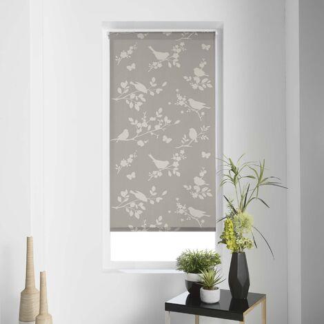 Store enrouleur imp. japonais 45 x 180 cm polyester rossignol Taupe