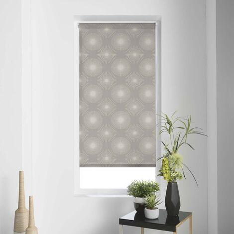 Store enrouleur imprimé japonais 45 x 180 cm polyester ozone Taupe