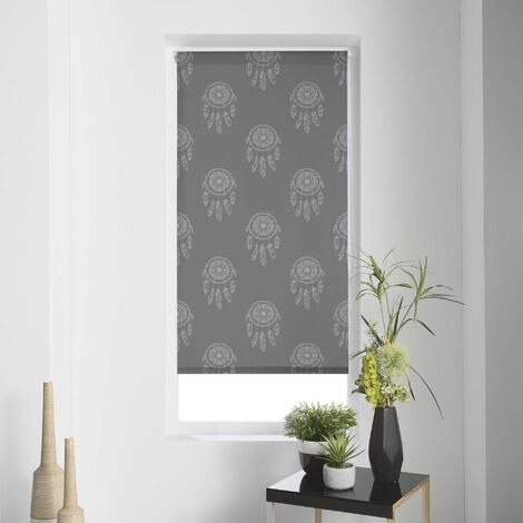 Store enrouleur imp. japonais 45 x 180 cm polyester kaya Gris