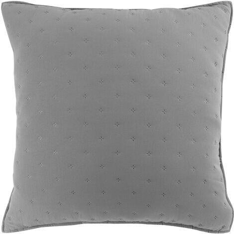Housse de coussin 60 x 60 cm microfibre bicolore Mellow chic Gris/blanc