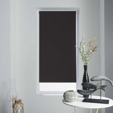 Store enrouleur occultant 45 x 180 cm polyester occult Noir