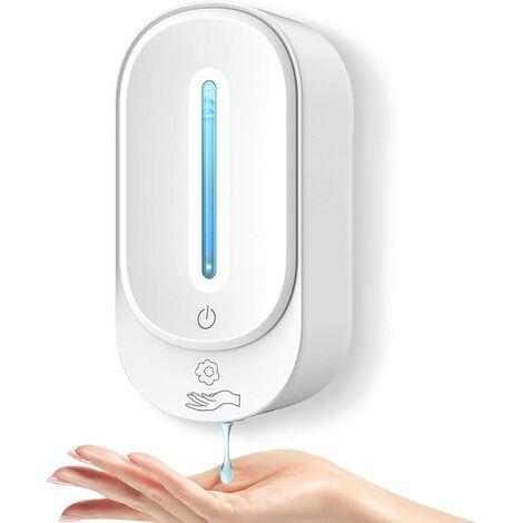 Distributeur Savon Automatique, 350ML Dstributeur Savon Mural Distributeur Gel sans Contact avec