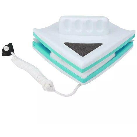 Nettoyant Magnétique Couche Simple Face avec Corde Anti-Chute. Lave-Vitres Magnétique pour Fenêtres à Simple Vitrage De Grande Hauteur, pour Windows Simple Vitrage avec 5-12mm d'épaisseur