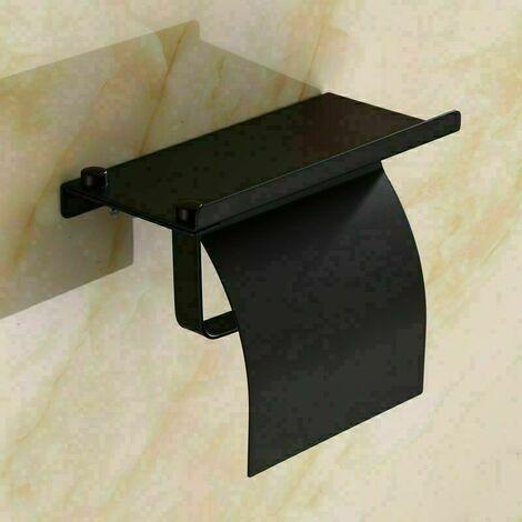 Porte Papier Toilette , Support Papier Toilettes pour Salle de Bain et Cuisine, Acier Inox, Porte Rouleau Toilette Pas de Forage et fixé au mur