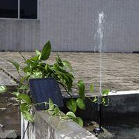 Pompe à eau solaire sans brosse pour bassin Pompe à eau solaire pour fontaine avec panneau solaire 9V 2.5W 200L / H