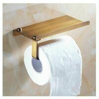 Porte Papier Toilettes avec Etagère, Support Papier Toilette 304 Acier Inoxydable Auto-adhésif ou Installation Murale