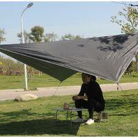 Voile d'Ombrage Triangulaire Toile Imperméable Protection Solaire en Tissu Anti Rayons UV et Respirant pour Jardin Camping,noir