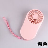 Petit Ventilateur USB Silencieux Electrique Mini Ventilateur de Poche sur Batterie Compatible pour Chambre Bureau De Plein air Voyage Bleu