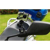 """Support Moto Vélo Guidon pour GoPro, Fixation Camera Metal Clamp avec 1/4"""" 20 for GoPro Hero 9 8 7 6 5 4 Session 3+ 3 2 1, Canon, SJCAM, Canon, YICAM, DSLR et Autre Action Cam, Black"""