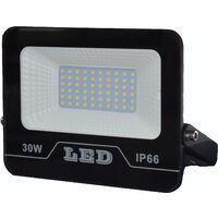 30W Dimmable Projecteur LED, 100LM Spot LED Extérieur Dimmable par interrupteur, (6500K)Lampe Exterieur, IP65 Étanche éclairage de Sécurité, Lumière Extérieure pour Jardin Garage Patio [Classe énergétique A++]