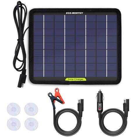 12V Tenedor de batería solar del panel solar del cargador del goteo para el camión de campista de las botas del coche