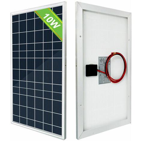 10W 12V Módulo solar polivinílico del PV 10W de los paneles solares para la carga de la batería del hogar RV del coche
