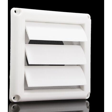 Rejilla plástica de la ventilación de la pared de las aletas de la gravedad de la cubierta 3 de la rejilla de ventilación de aire con la red Mohoo