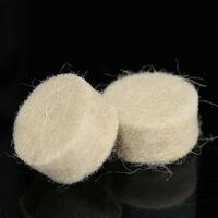 50 piezas 13 mm x 7 mm fieltro de lana pulido redondo herramientas de pulido ruedas para rotatorio