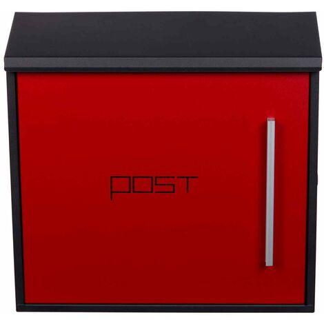 Birendy Design Briefkasten Stahl Rot HPB918NH Wandbriefkasten edel Postkasten