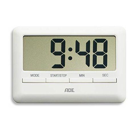 ADE TD 1600minuterie de cuisine numérique, plastique, Plastique, TD1600 - wei, 10.1 x 7 x 1.1 cm
