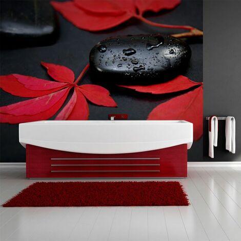 Papier peint - Intensité du rouge : zen .Taille : 400x309
