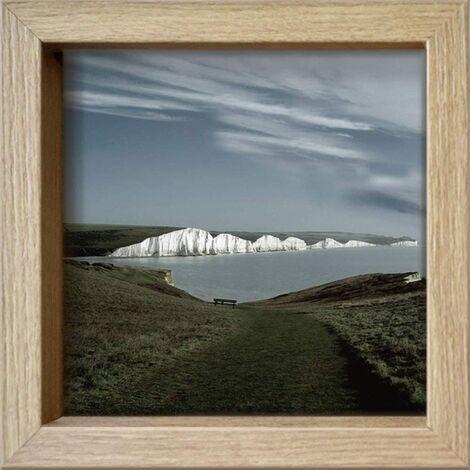 International Graphics - Carte postales encadrées - Gill, Copeland - \'\'The Journey\'\'- 16 x 16 cm - Cadre disponible en 4 couleurs ? Couleur du cadre: Bois/Naturel - Série LUNA