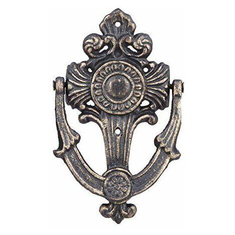 Relaxdays antique Heurtoir de porte, EN FONTE, à motif, pour porte avant, H x L x P: 18x 10x 4cm, Bronze