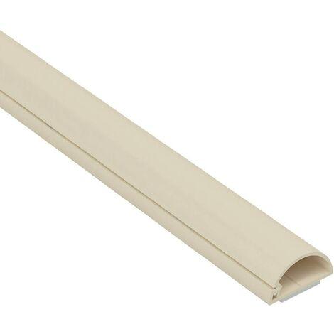 D-Line Micro+ Moulure décorative en Demi-Cercle - 1M2010M - Goulotte électrique - Cache-câble - 20mm x 10mm-1m Longueur, Crème, Longeur
