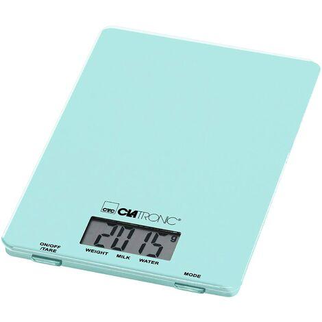 Balance de cuisine numérique Clatronic KW 3626 LCD Plage de pesée (max.)=5 kg menthe, vert