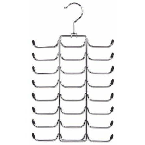 Zeller 17147 Cintre porte-ceintures / porte-cravates en métal chromé, 21 x 40 cm
