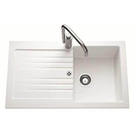 EWI Evier Spirelle 1 bac 86x50 cm blanc