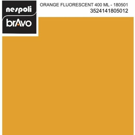 NESPOLI Aérosol peinture professionnelle fluorescent orange
