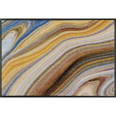 Wash+Dry Tapis, Surface en Polyamide, Beige, 50 x 75 cm