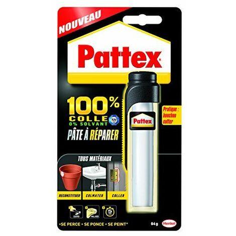 Pattex Pâte à réparer epoxy 100% colle - Multi usages et compatible avec de nombreux matériaux - Contient 2 composants - 1 x 64 g