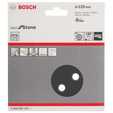 Bosch 2608605118 Disque abrasif pour ponceuse excentrique Ø 125 mm 8 Trous Grain 180 5 pièces