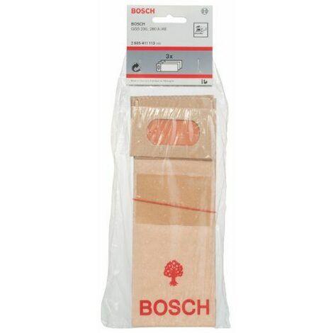 Bosch 2605411113 Sac d\'aspiration en papier Pour GSS 230/280 Lot de 3