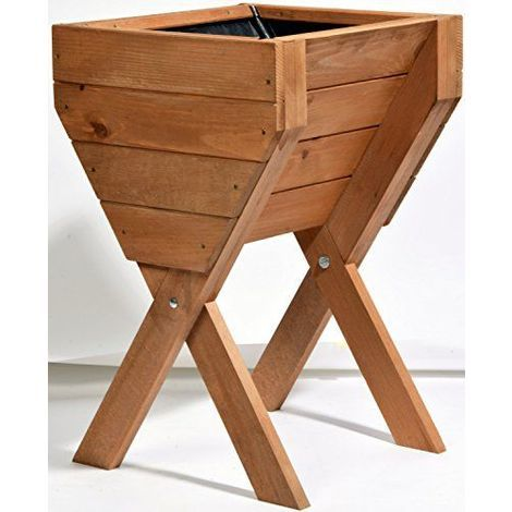 Dobar décoratif Plate-bande surélevée en bois Pin: Table de Construction Kit pour légumes, herbes, fleurs, facile à monter, marron, 39x 40x 61cm, 58100FSC