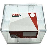 fer 43631Caisse professionnelle plastique Agrafe de polyéthylène, transparent, 6.8mm